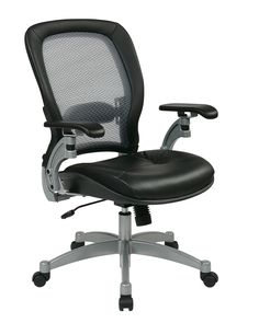 Office Star Black/Platinum Professional Light AirGrid Chair