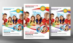 Kids School Education Flyer Template by Business Templates on @creativemarket