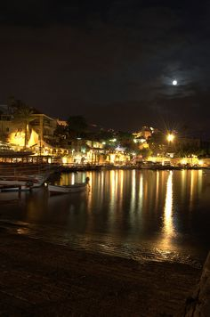 Byblos, Lebanon by night.