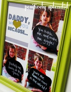 """Daddy we love you because . . ."" This is a gift Dad will keep forever."