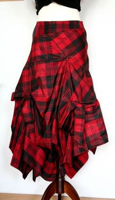 Reserved for Johanne plaid taffeta skirt in shades of by couvert