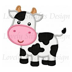 Cow Applique Machine Embroidery Design NO:0270