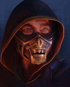 Scorpion Mortal Kombat, Mortal Kombat Xl, Mortal Combat, Video Game Characters, Video Games, Concept, War, Wallpapers, Comics