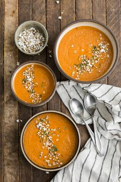 Roasted Garlic Tomato Soup with Popped Sorghum | @naturallyella
