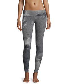 I0NN0 Alo Yoga Airbrush Printed Sport Leggings