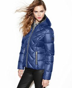 GUESS? Hooded Quilted Puffer