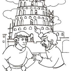 tower of babel with its top reaching heaven coloring page kids play color - Tower Of Babel Coloring Page