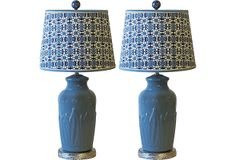 Blue Ceramic Lamps