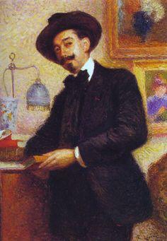 Portrait of Salvatore di Giacomo, by Enrico Lionne (Italian, 1865-1921)