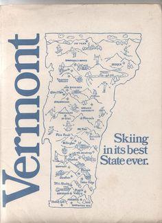 1973 Vermont ski map - a lot more ski areas back then...