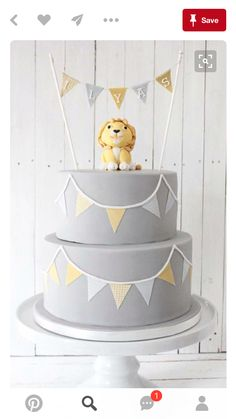 Beautiful Baby Lion Birthday Cake from an Elegant Baby Lion