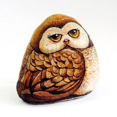 #owls #stonepainting #rockpainting #artofstone #art #paintedrocks #painting #ideastone