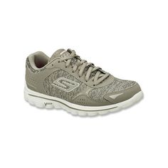 Skechers GoWalk 2 ($65) ❤ liked on Polyvore featuring shoes, athletic shoes, cross training shoes, grey, women's, traction shoes, light weight shoes, gray shoes, skechers footwear and skechers shoes