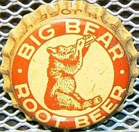 Big Bear Root Beer, bottle cap | Garden City Extract Co., San Jose, California USA | On sold on eBay 2/2011 for $210.27.