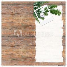Schöne Weihnachten, DIN lang Flyer, Weihnachtkarte, Holz