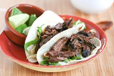 Brisket Tacos with Roasted Onions, Beet Greens, and Ancho-Coffee Sauce