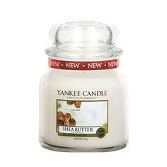 Yankee Candle 1332213E Bougie parfumée senteur Beurre de Karité en jarre 411 g Blanc: Yankee Candles Medium Bougie – Beurre de Karité –…