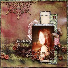 Beauty ~Scraps of Darkness & Dusty Attic~ - Scrapbook.com