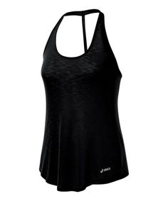 Take a look at this Black PR Slub T-Back Tank - Women by ASICS on #zulily today!