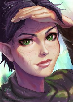 """eva0art: """" Wanna draw some portrait today) Its Merrill, if you know her) i always like woman with tattoo on face/// For this image my patrons will get in next week reward (07/03): ❤ Step by step ❤ Hi-res (3000 px) ❤ PSD with all layers and..."""