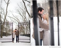 love the gates. | Chicago engagement photos | Jill Tiongco Photography | Chicago wedding photographer