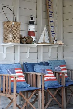 Great nautical colors and casual summer feeling