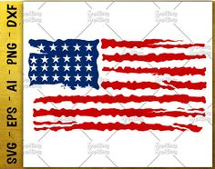 American Flad Distress Svg Flag Usa Distressed Cutting Cuttable File Silhouette Cricut Instant