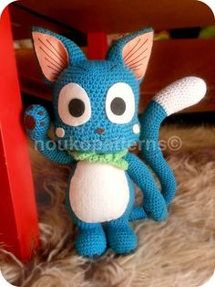 Fairy Tail's Happy Amigurumi INSTRUCTIONS ONLY