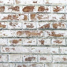 Create a statement with our White Painted Brick Pattern Wallpaper Mural. Brick Wallpaper Mural, Brick Pattern Wallpaper, White Brick Wallpaper, Textured Wallpaper, Bedroom Wallpaper, Painted Brick Walls, White Brick Walls, Red Walls, Grey Brick