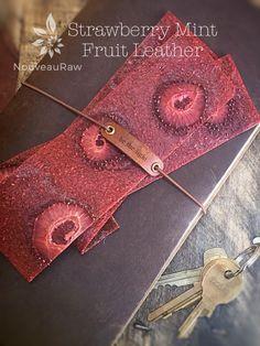 Strawberry Mint Fruit Leather (raw, vegan, gluten-free, nut-free)