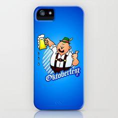 Oktoberfest - man in lederhosen iPhone & iPod Case by Cardvibes - $35.00 #Cardvibes #Tekenaartje #Society6 #Oktoberfest #Wiesn