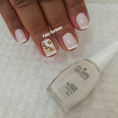 As 99 melhores unhas francesinhas decoradas por manicures do Brasil Dope Nails, Fun Nails, Pretty Nails, Colorful Nail Designs, Nail Art Designs, Nail Decals, Holiday Nails, Nail Arts, Manicure And Pedicure