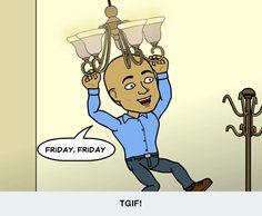 It's the weekend baby! #weekendtine #tgif #sohappy #bitstrips