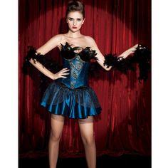Pfau Kostüm Corsagen-Kleid ca 49€   Kostüm-Idee zu Karneval, Halloween & Fasching