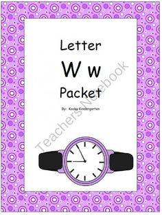 Letter Ww Phonics and Writing Pack product from KookyKindergarten on TeachersNotebook.com