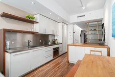Extraordinary Smart Kitchen Design For Small Spaces ,Bathrooms don't require a great deal of space so as to upgrade to a luxury shower. Modern Apartment Design, Small Apartment Interior, Small Apartment Kitchen, Small Space Interior Design, Modern Kitchen Design, Interior Design Kitchen, Modern Interior Design, Modern Apartments, Modern Kitchens