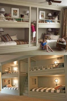 You would have to knock out the wall between the bedrooms and use the corridor for extra space.