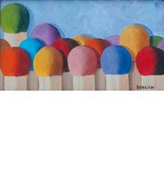 """""""Colorati"""" 2011, olio su tela, 11x20"""