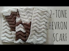 2-Tone Chevron | Crochet Pattern | Scarf Tutorial - YouTube