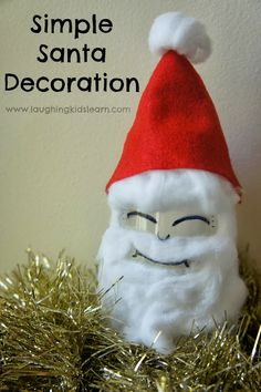 Simple Santa Decoration using a plastic cup  Laughing Kids Learn