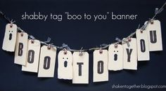 """Plain manilla office supply store tags get a fantastic Fall makeover to become adorable """"Happy Fall"""" and """"Boo To You"""" banners to add to your home decor!"""