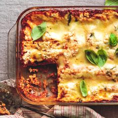 Classic Lasagna | Banza Baked Pasta Dishes, Baked Pasta Recipes, Beef Recipes, Real Food Recipes, Healthy Recipes, Healthy Side Dishes, Side Dish Recipes, Macro Meals, Dinner Entrees