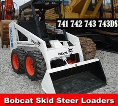 Bobcat 741 742 743 and 743DS Skid Steer Loader Service Manual on a CD