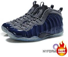 796511b3fdf Nike Air Foamposite One Bright Navy Blue Grey