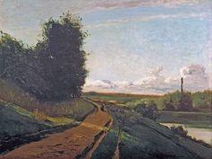 Camille Pissarro - The tow path [1864] | par petrus.agricola