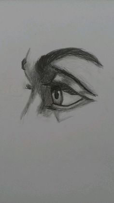 Drawing Ideas List Art 58 Ideas is part of pencil-drawings - pencil-drawings Pencil Art Drawings, Art Drawings Sketches, Cute Drawings, Sketch Art, Drawing Ideas List, Realistic Eye Drawing, Drawing Eyes, Arte Sketchbook, Drawing Techniques