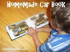 Fun way for toddlers to create their own book of CARS!