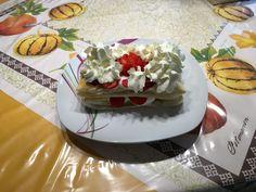 Blätterteig Torte mit Erdbeeren + Sahne