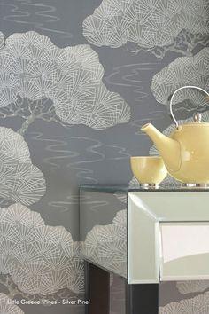 Little Greene Pines Oriental Wallpaper - Silver Pine - http://godecorating.co.uk/little-greene-pines-oriental-wallpaper-silver-pine/