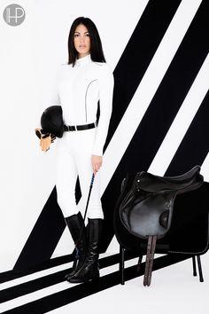 Horseware Platinum Collection A/W14: Ella competition shirt / Horseware Platinum unisex belt / Siena ladies breeches